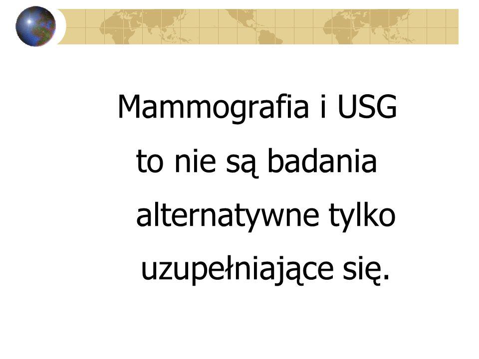 Mammografia i USG to nie są badania alternatywne tylko uzupełniające się.