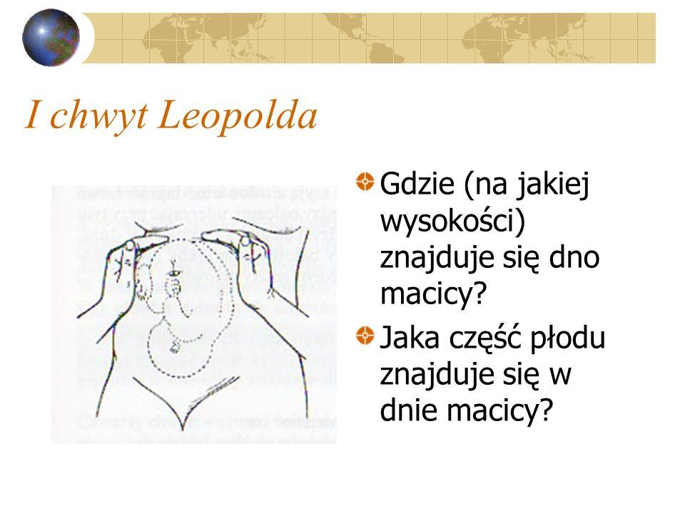 I chwyt Leopolda Gdzie (na jakiej wysokości) znajduje się dno macicy? Jaka część płodu znajduje się w dnie macicy?