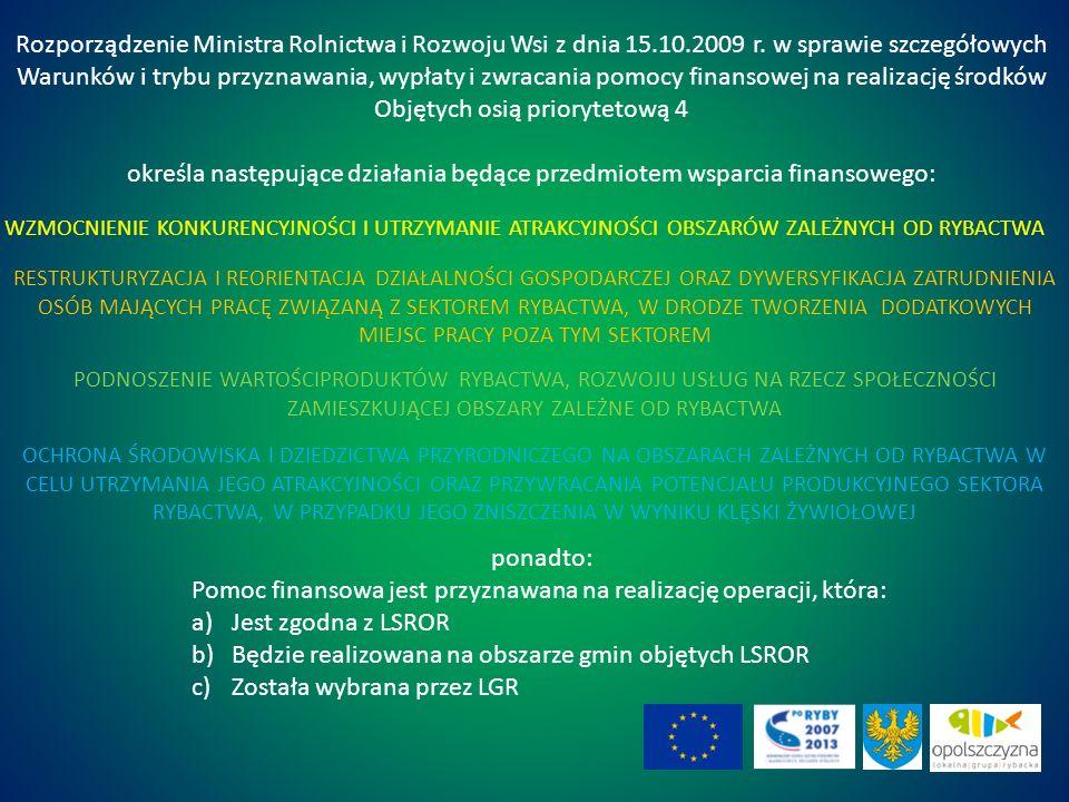 Rozporządzenie Ministra Rolnictwa i Rozwoju Wsi z dnia 15.10.2009 r.