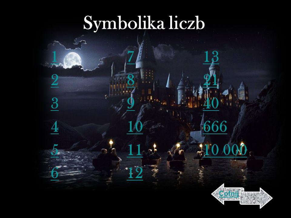Symbolika liczb 1 2 3 4 5 6 7 8 9 10 11 12 13 21 40 666 10 000