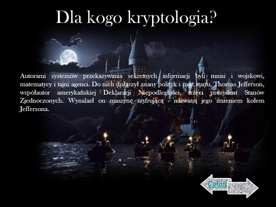 Dla kogo kryptologia.