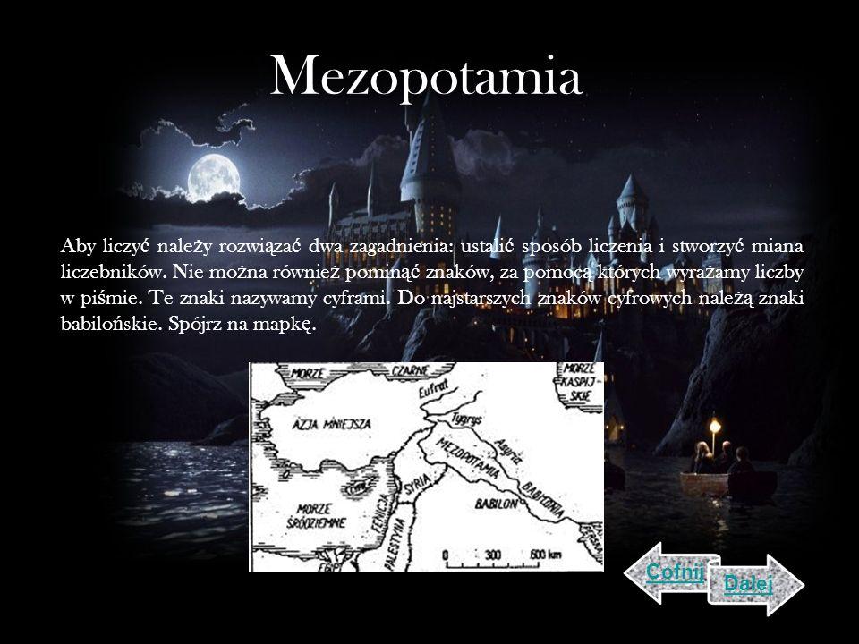 Mezopotamia Aby liczy ć nale ż y rozwi ą za ć dwa zagadnienia: ustali ć sposób liczenia i stworzy ć miana liczebników.