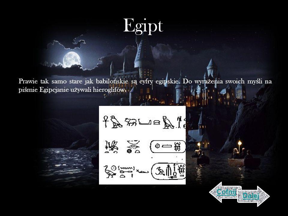 Egipt Prawie tak samo stare jak babilo ń skie s ą cyfry egipskie.