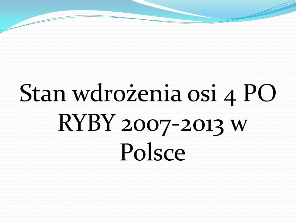 Stan wdrożenia osi 4 PO RYBY 2007-2013 w Polsce