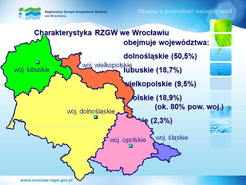 obejmuje województwa: dolnośląskie (50,5%) lubuskie (18,7%) wielkopolskie (9,5%) opolskie (18,9%) (ok. 80% pow. woj.) śląskie (2,3%) Charakterystyka R