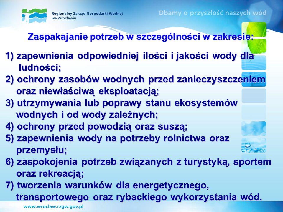 Rozmieszczenie 104 obwodów rybackich ustanowionych przez Dyrektora RZGW we Wrocławiu