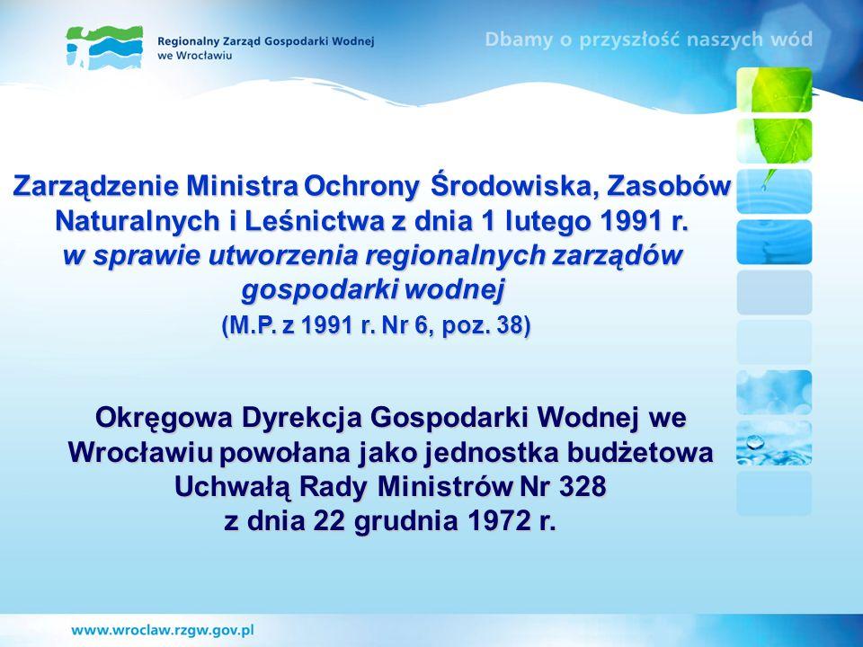 Zarządzenie Ministra Ochrony Środowiska, Zasobów Naturalnych i Leśnictwa z dnia 1 lutego 1991 r. w sprawie utworzenia regionalnych zarządów gospodarki