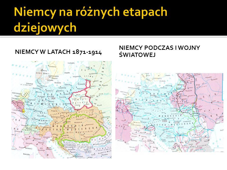 NIEMCY W LATACH 1871-1914 NIEMCY PODCZAS I WOJNY ŚWIATOWEJ