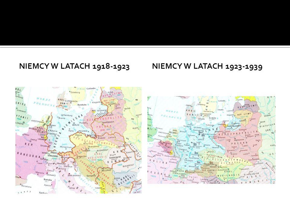 NIEMCY W LATACH 1918-1923NIEMCY W LATACH 1923-1939