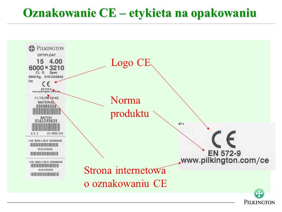 Oznakowanie CE – etykieta na opakowaniu Logo CE Strona internetowa o oznakowaniu CE Norma produktu