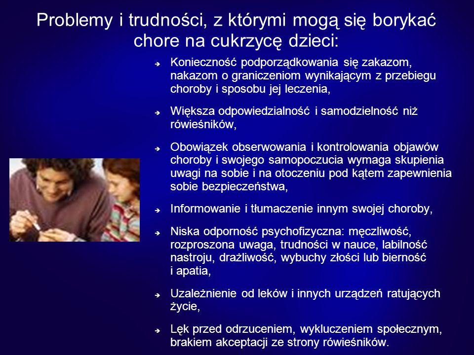 Problemy i trudności, z którymi mogą się borykać chore na cukrzycę dzieci: Konieczność podporządkowania się zakazom, nakazom o graniczeniom wynikający