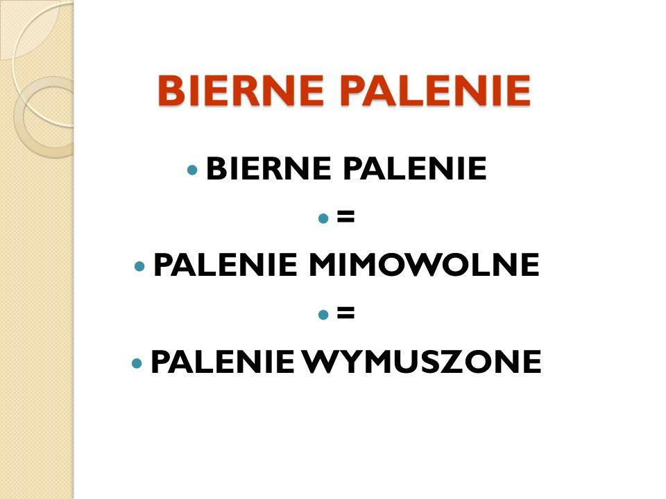 BIERNE PALENIE = PALENIE MIMOWOLNE = PALENIE WYMUSZONE