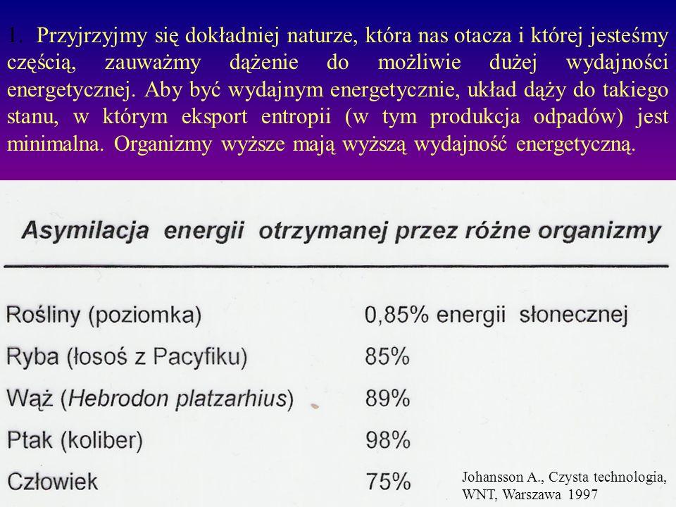 1.Wzrost entropii to wzrost nieuporządkowania.