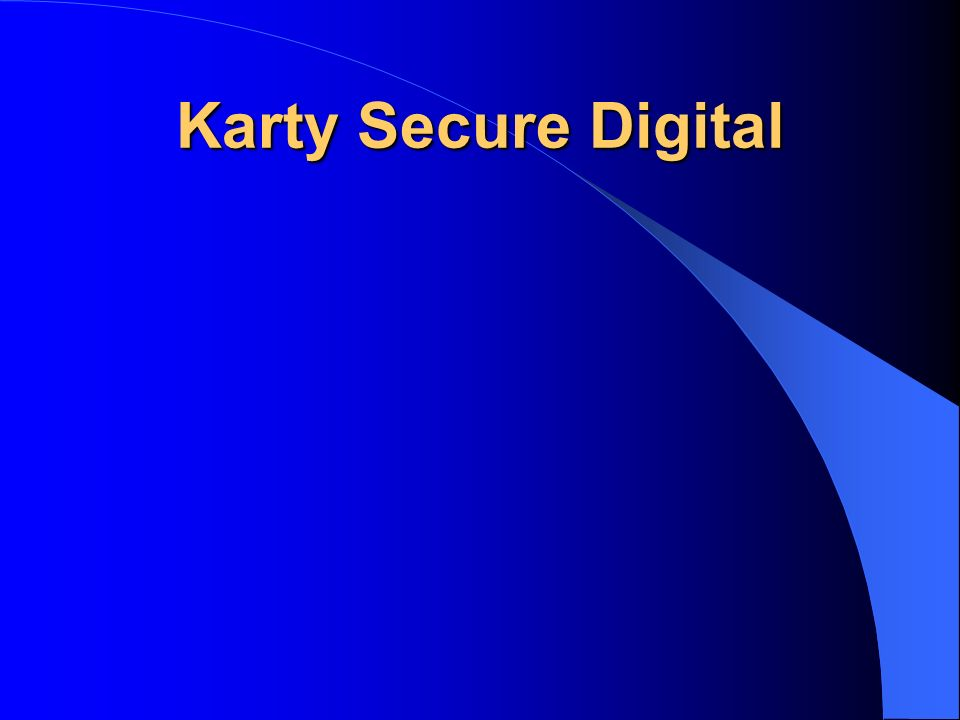 Karty Secure Digital