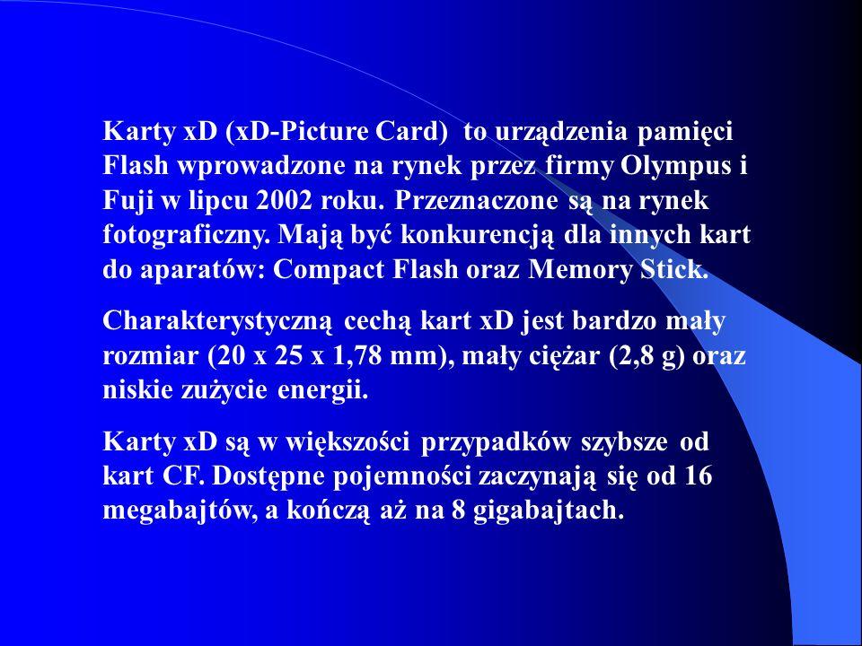 Karty xD (xD-Picture Card) to urządzenia pamięci Flash wprowadzone na rynek przez firmy Olympus i Fuji w lipcu 2002 roku. Przeznaczone są na rynek fot