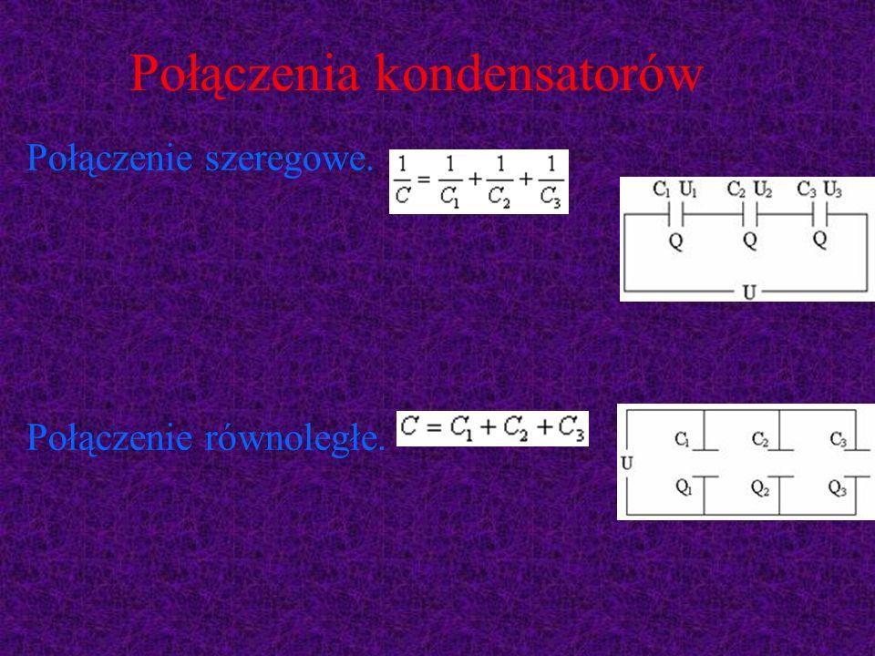 Połączenia kondensatorów Połączenie szeregowe. Połączenie równoległe.