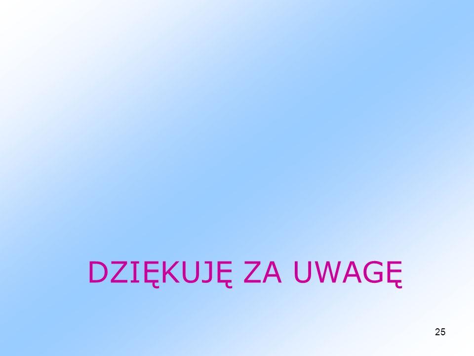 25 DZIĘKUJĘ ZA UWAGĘ