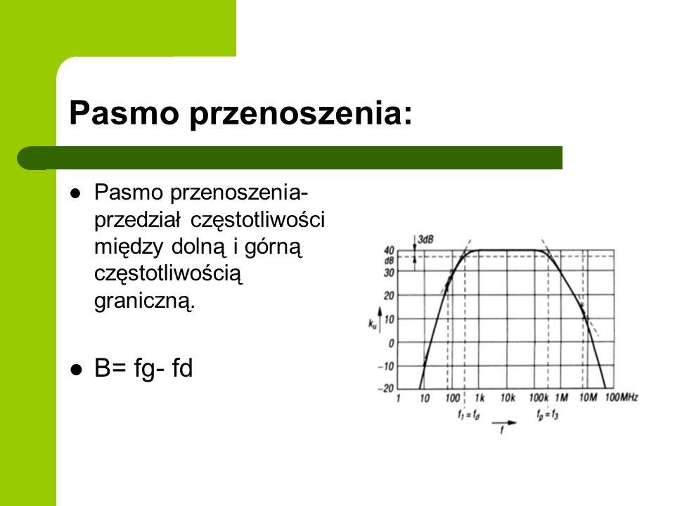 Pasmo przenoszenia: Pasmo przenoszenia- przedział częstotliwości między dolną i górną częstotliwością graniczną.