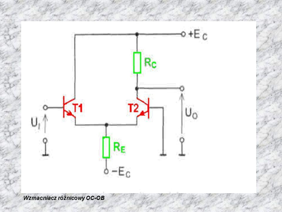 Wzmacniacz różnicowy OC-OB Wzmacniacz różnicowy OC-OB
