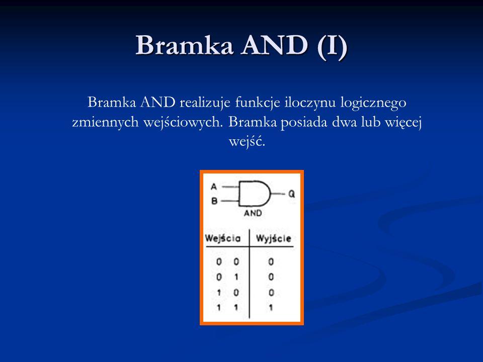 Bramka NOT (NIE) Bramka NOT realizuje funkcję negacji zmiennej wyjściowej.