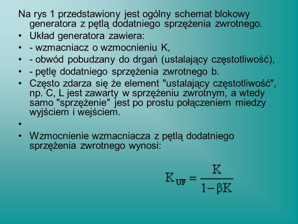 Pulsacje rezonansowe w przybliżeniu wynoszą: a ich względna różnica przy założeniu Cm << Co: