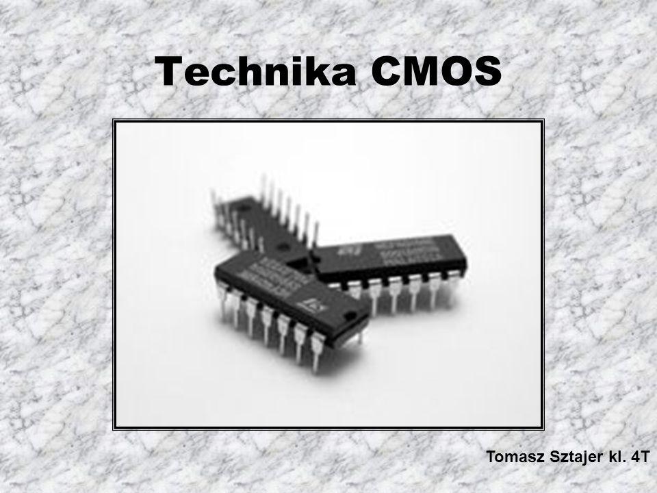 CMOS (komplementarne MOS) – są to układy scalone głównie cyfrowe, składające się z tranzystorów MOS o przeciwnym typie przewodnictwa i połączonych w taki sposób żeby przy danym stanie logicznym przewodził tylko jeden tranzystor.