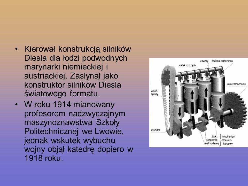 Kierował konstrukcją silników Diesla dla łodzi podwodnych marynarki niemieckiej i austriackiej. Zasłynął jako konstruktor silników Diesla światowego f