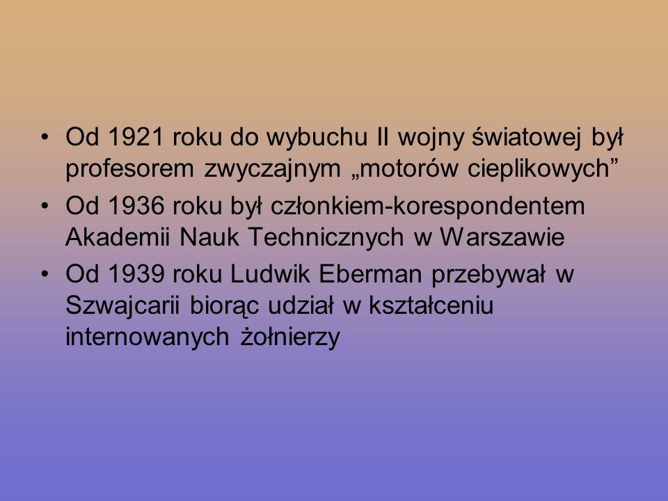 Od 1921 roku do wybuchu II wojny światowej był profesorem zwyczajnym motorów cieplikowych Od 1936 roku był członkiem-korespondentem Akademii Nauk Tech