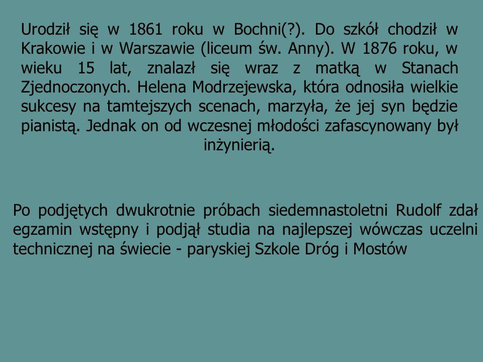 Urodził się w 1861 roku w Bochni(?).Do szkół chodził w Krakowie i w Warszawie (liceum św.