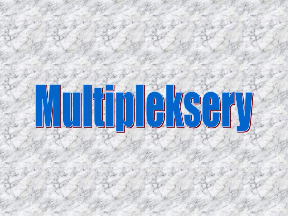 Multipleksery ( zwane selektorami danych ) służą do wyboru jednego z kilku sygnałów wejściowych i przekazania go na wyjście układu.