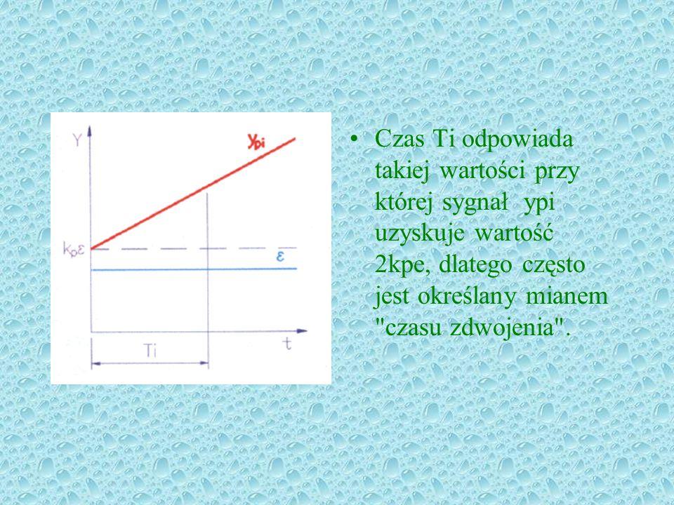 Czas Ti odpowiada takiej wartości przy której sygnał ypi uzyskuje wartość 2kpe, dlatego często jest określany mianem