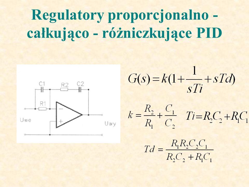 Regulatory proporcjonalno - całkująco - różniczkujące PID