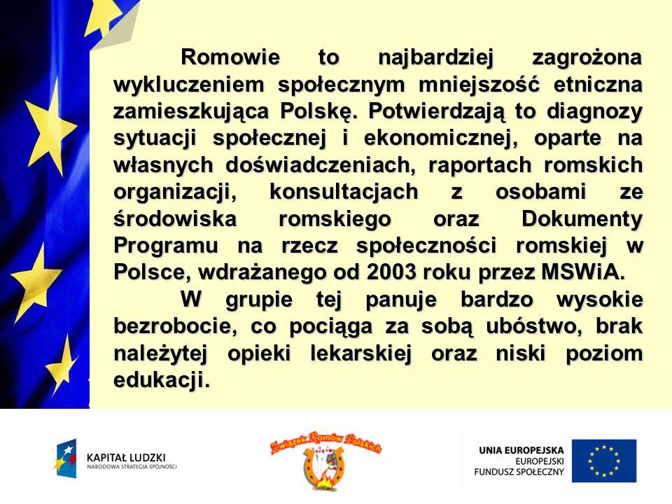 Romowie są także najmniej samodzielną grupą osób, dlatego też potrzebują pomocy od innych obywateli na każdym polu działania, zwłaszcza we wchodzeniu na rynek pracy i utrzymaniu się w zatrudnieniu.