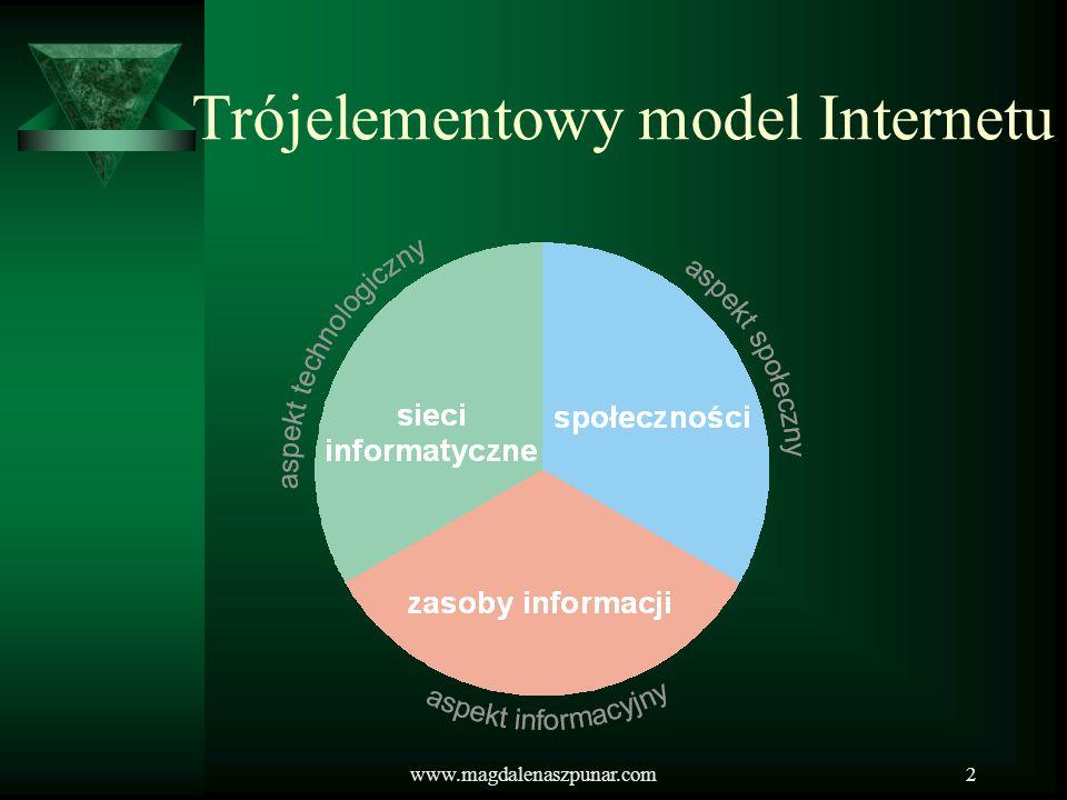 www.magdalenaszpunar.com2 Trójelementowy model Internetu