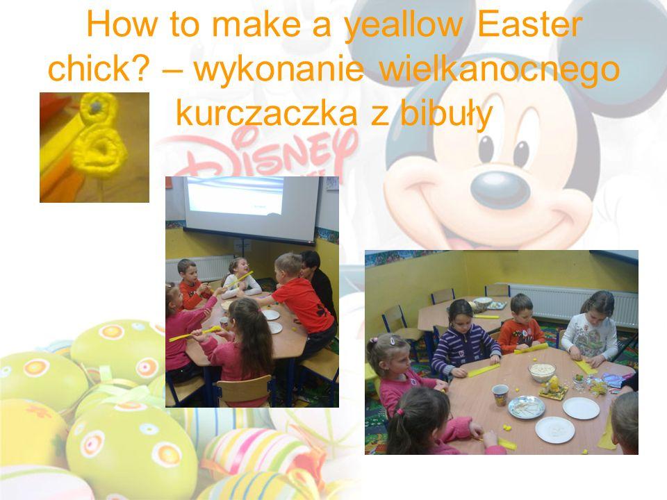 How to make a yeallow Easter chick? – wykonanie wielkanocnego kurczaczka z bibuły