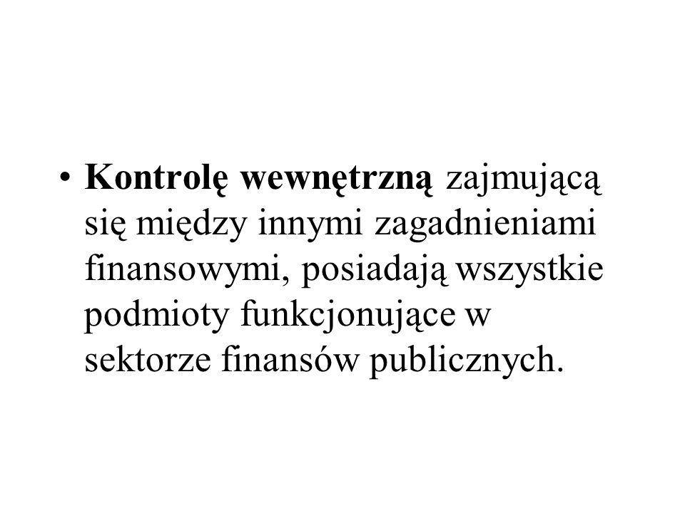 Parlament wykonuje kontrolę finansów sektora publicznego bezpośrednio przez Sejm, Senat i ich organy, oraz pośrednio poprzez Najwyższą Izbę Kontroli.