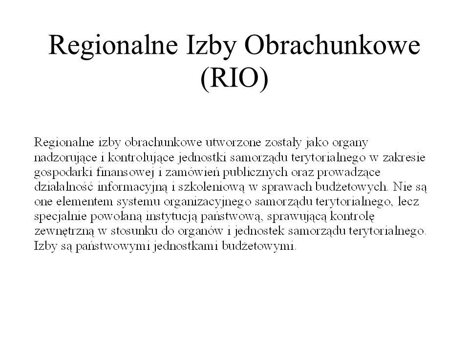 Regionalne Izby Obrachunkowe (RIO)
