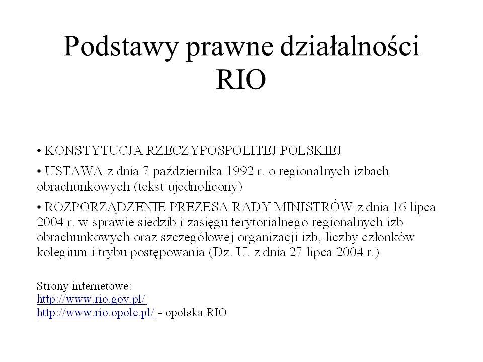Podstawy prawne działalności RIO