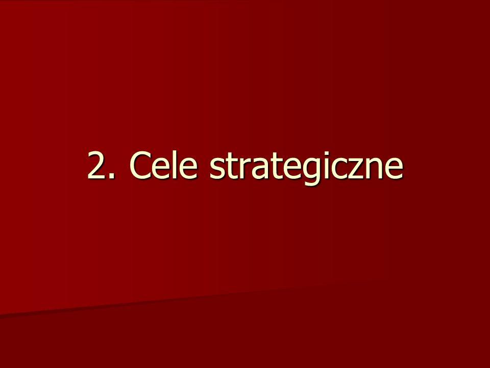 Cele w organizacji Cele w organizacji zbiór zamierzeń przewidzianych do realizacji w jakimś przedziale czasu, z których wywodzą się zadania cząstkowe; uświadomiony i pożądany przez działającego człowieka stan rzeczy, który zamierza on osiągnąć Ustalenie celów strategicznych jest punktem wyjścia formułowania strategii Ustalenie celów strategicznych jest punktem wyjścia formułowania strategii –tożsamość –misja/ wizja