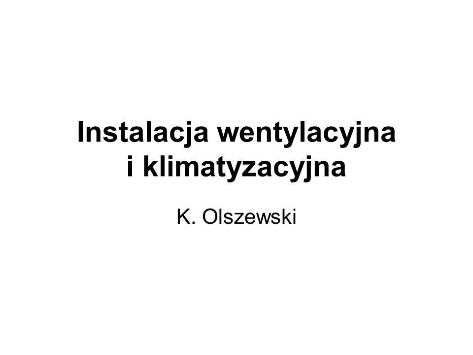 Instalacja wentylacyjna i klimatyzacyjna K. Olszewski