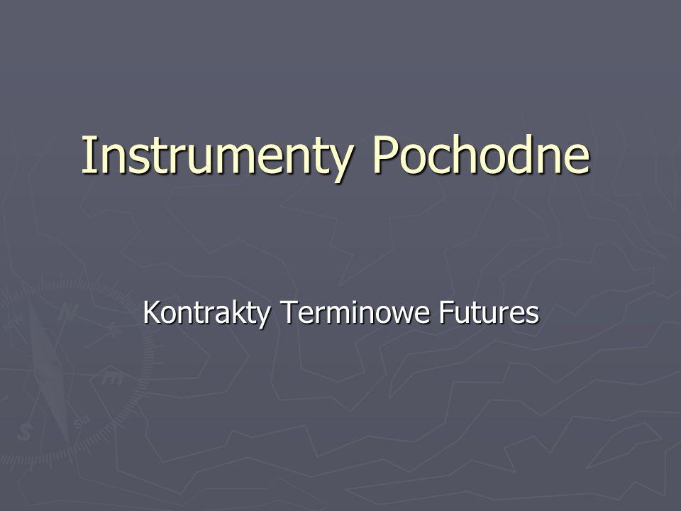 Instrumenty Pochodne Kontrakty Terminowe Futures