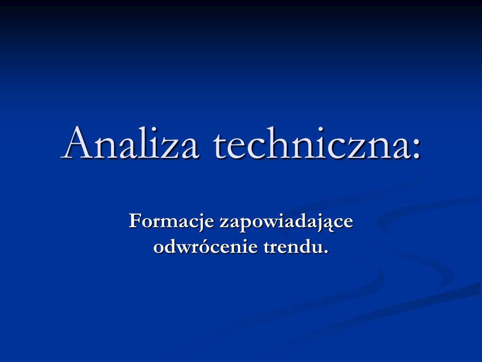 Analiza techniczna: Formacje zapowiadające odwrócenie trendu.