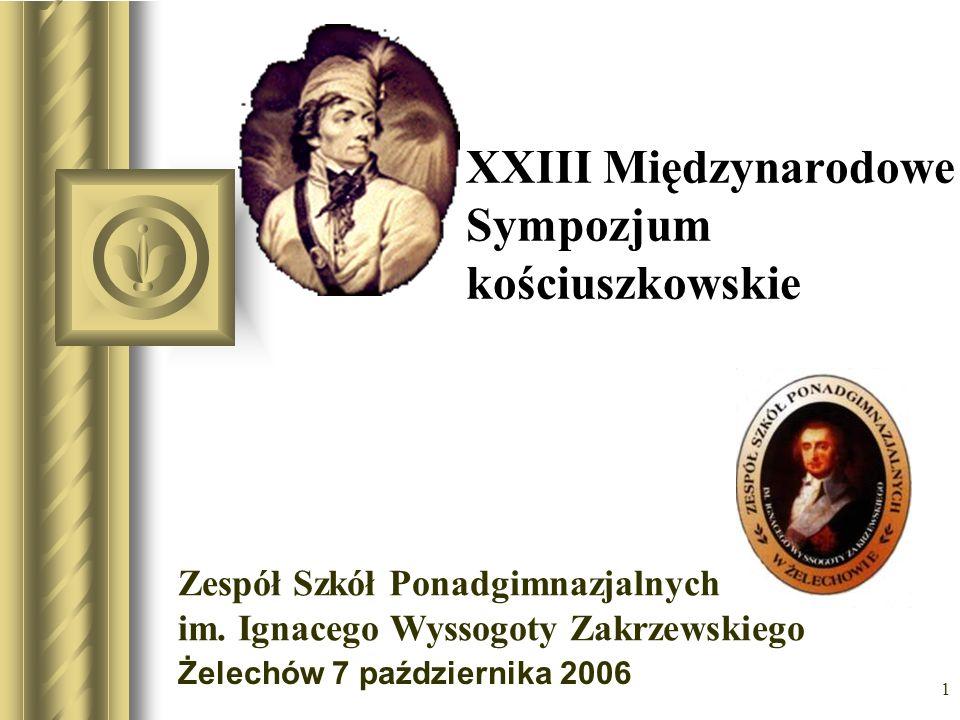 1 XXIII Międzynarodowe Sympozjum kościuszkowskie Żelechów 7 października 2006 Być może ta prezentacja wywoła dyskusję, z której wynikną działania do wykonania.