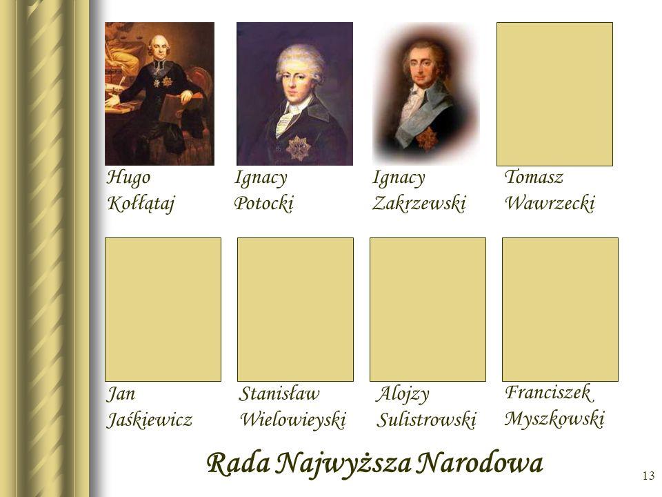 12 Stanisław Mokoronowski Rada Zastępcza Tymczasowa Józef Wybicki Jan Kiliński Ignacy Wyssogota Zakrzewski