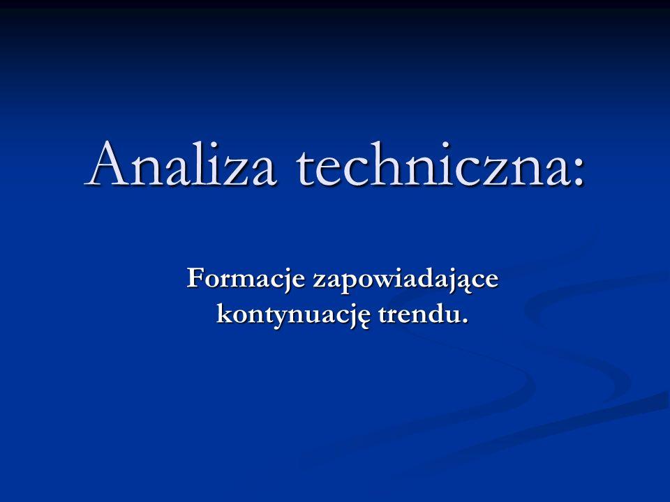 Analiza techniczna: Formacje zapowiadające kontynuację trendu.