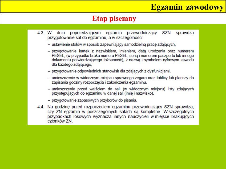 etap praktyczny z wyposażeniem (technik geodeta) Egzamin zawodowy