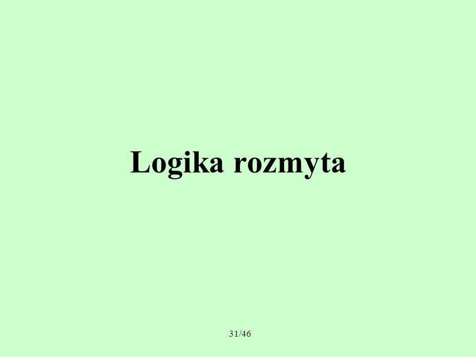 31/46 Logika rozmyta