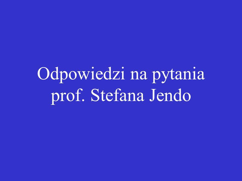 Odpowiedzi na pytania prof. Stefana Jendo