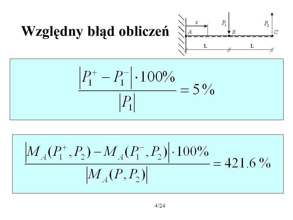 5/24 Celem niniejszej pracy jest przedstawienie nowych metod projektowania konstrukcji z niepewnymi parametrami.