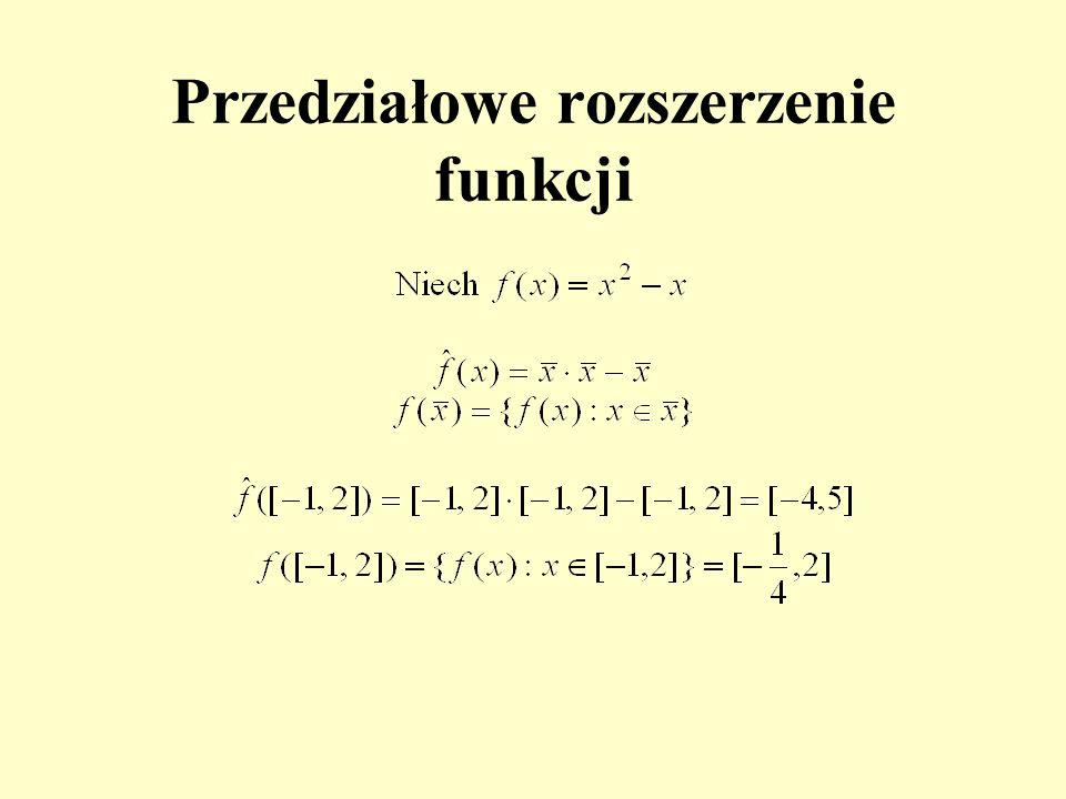 Przedziałowe rozszerzenie funkcji